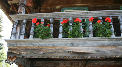 Balcony of Wooden House