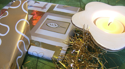 Christmas Celebrations, Candles, Parcels