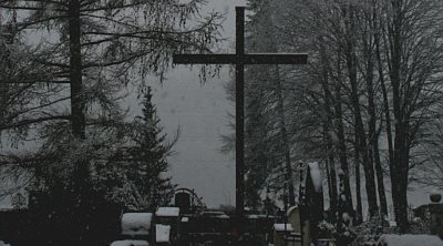 cemetery, snow-covered