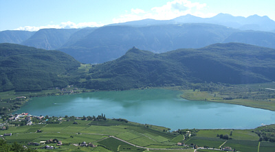view on lago di caldero, italy