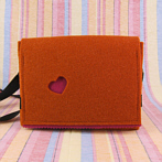 "Funky Handbag ""Rosi"" in Orange and Pink"