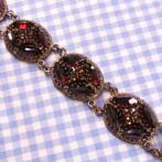 "Garnet Bracelet ""Teresa"", in Sterling Silver"