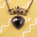 "Silver Garnet Necklace ""Clara"""