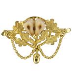 """Gold Brooch """"Adelheid"""", Bavarian-Style"""