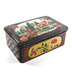 painted tin box Nathalie Lete cookie jar