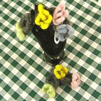 Handmade felted woollen rings