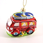 funny Christmas tree decoration caravan