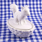 exceptional porcelain bowl squirrel