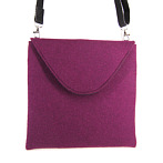 "Flat Felt Hand Bag ""Julianna"" in Fuchsia"