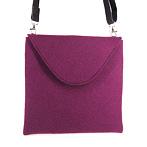 ausgefallene Filztasche violett