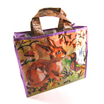 art tote with modern acrylic painting rabbit Fench