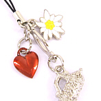 Mobile Phone Pendant Heart, Beer Mug