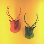 fake stag trophy green