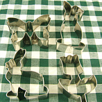 cookie cutter Easter bunnies