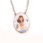 sweet necklace with fawn