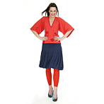 Fancy eco Fashion, red Kimono top