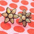 opal earrings star shaped
