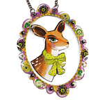gorgeous necklace with deer pendant