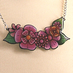 extraordinary flower necklace