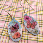 French Earrings with Butterflies