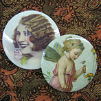 "Pocket Mirror ""Clochette"" and ""Diva"""