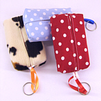 Fabric Tissue Cover Dots, Cow,Print