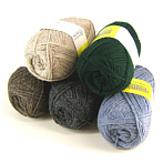 yarn in winter colors