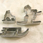 biscutz cutters set Ski, sledge, ice skating